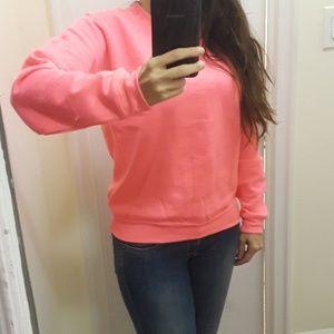 Tops - Neon pink sweatshirt NWOT